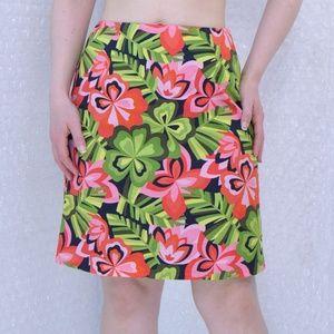 Talbots petite floral mini skirt